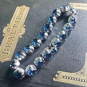Dark Blue Weiss Rhinestone Bracelet